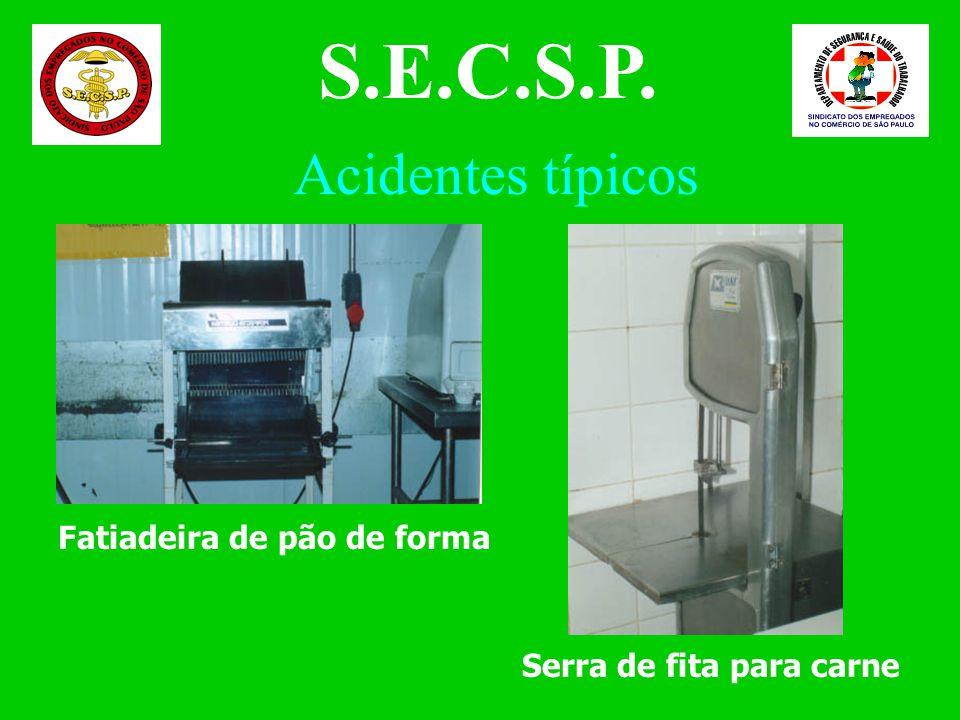 S.E.C.S.P. Acidentes típicos Fatiadeira de pão de forma