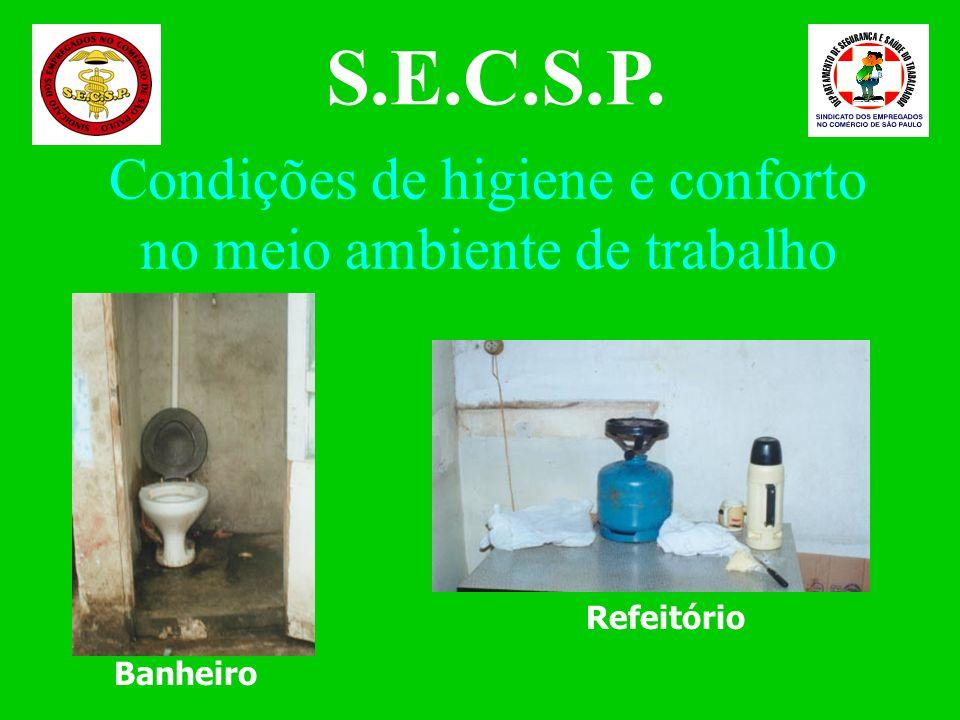 Condições de higiene e conforto no meio ambiente de trabalho