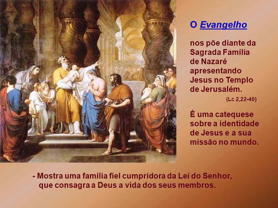O Evangelho nos põe diante da Sagrada Família de Nazaré