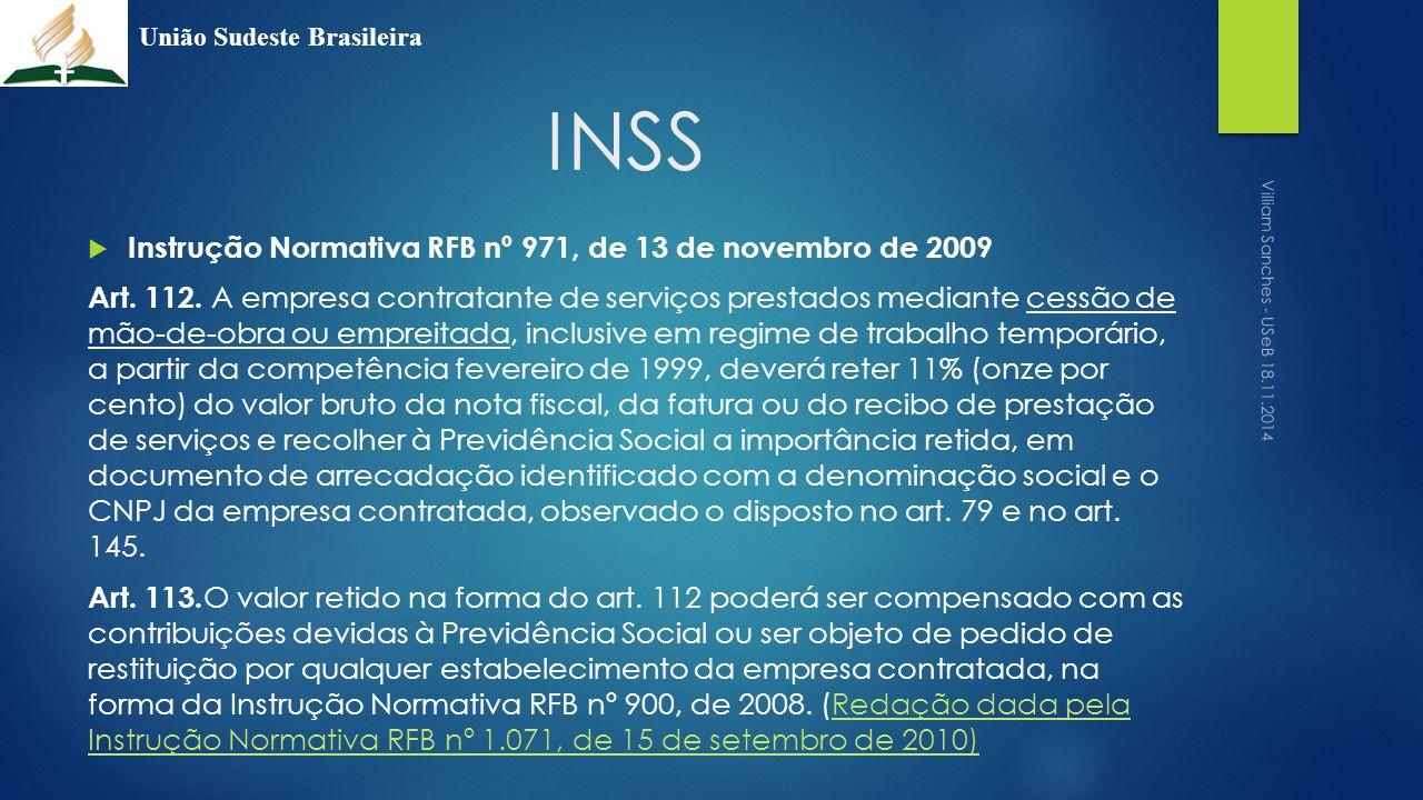 INSS Instrução Normativa RFB nº 971, de 13 de novembro de 2009