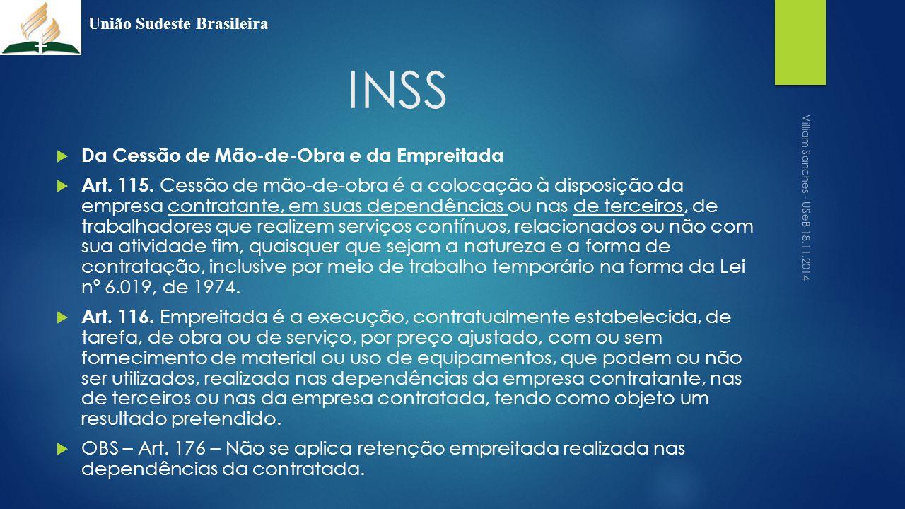 INSS Da Cessão de Mão-de-Obra e da Empreitada