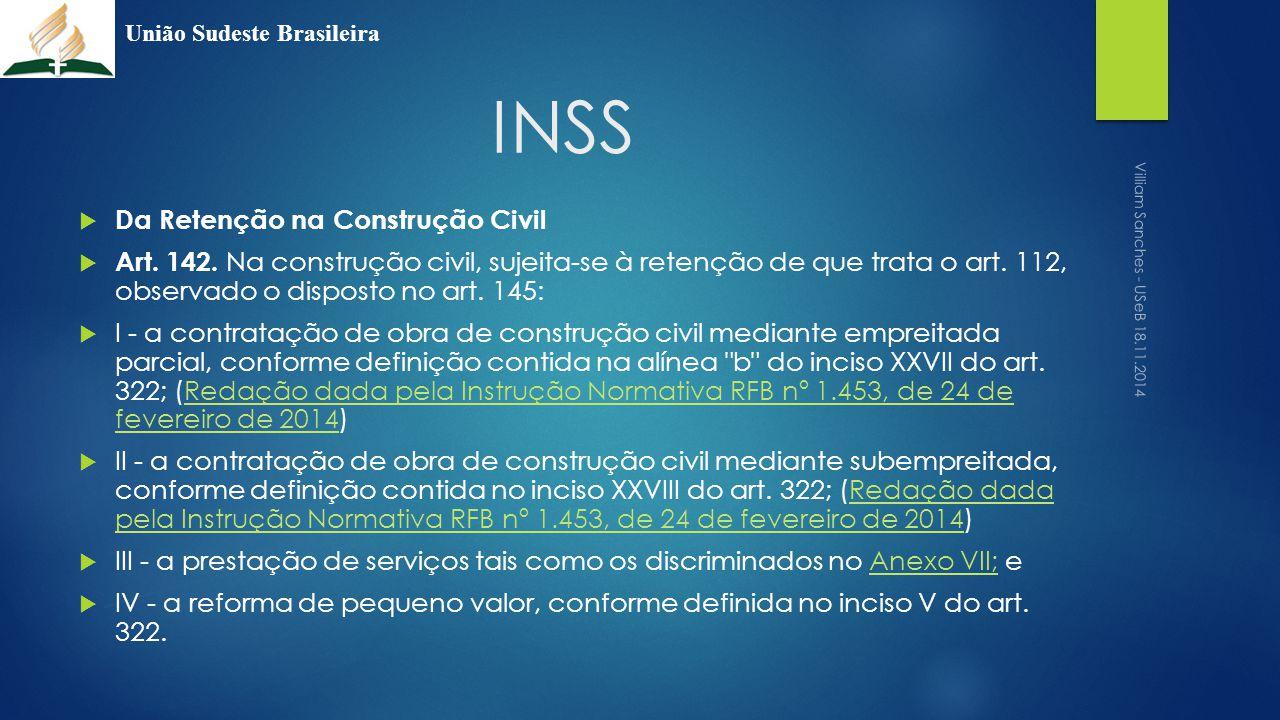 INSS Da Retenção na Construção Civil