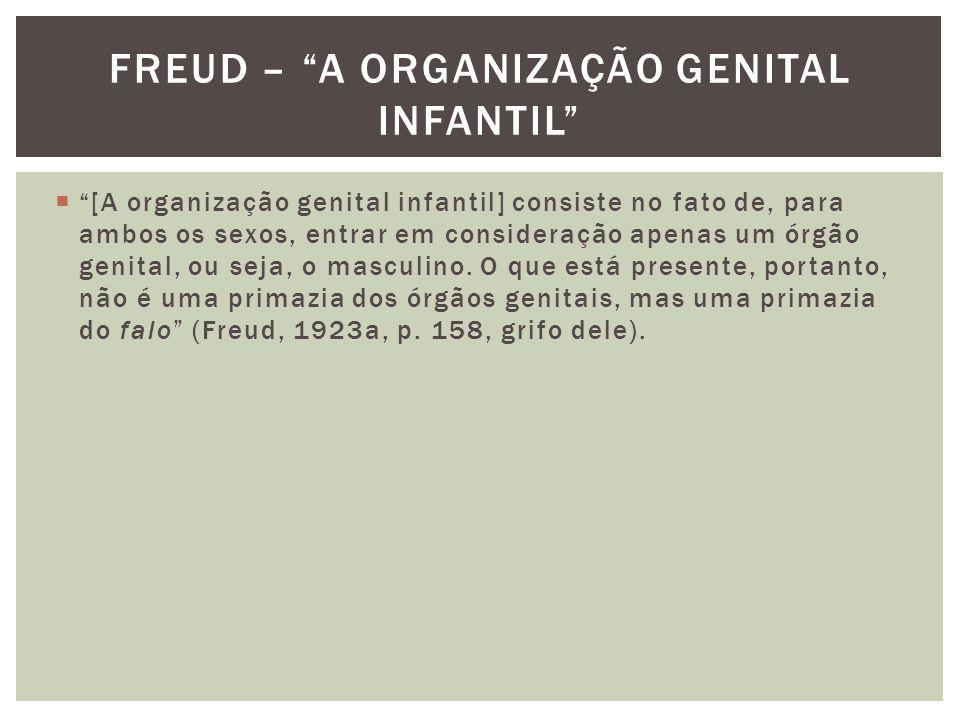 Freud – a organização genital infantil
