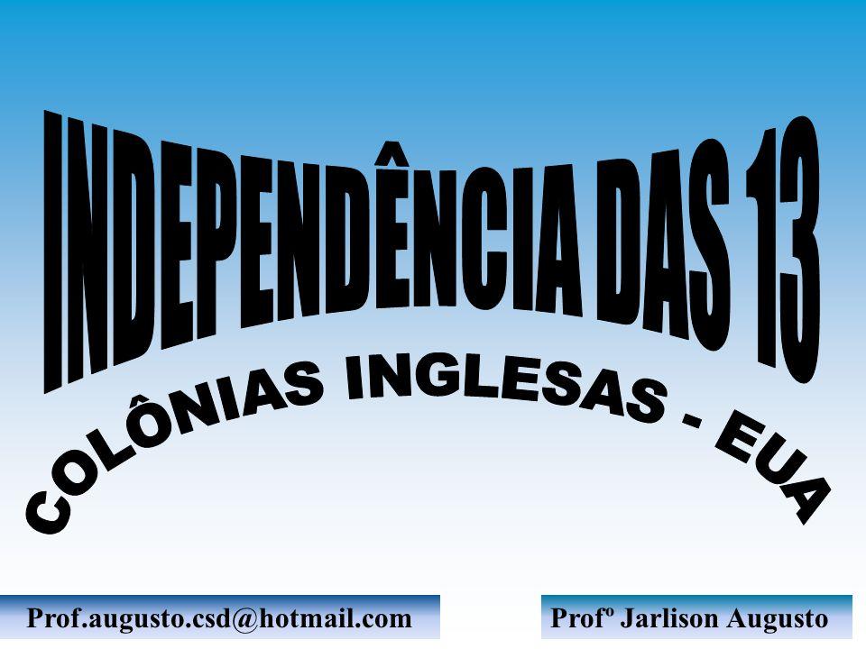 COLÔNIAS INGLESAS - EUA