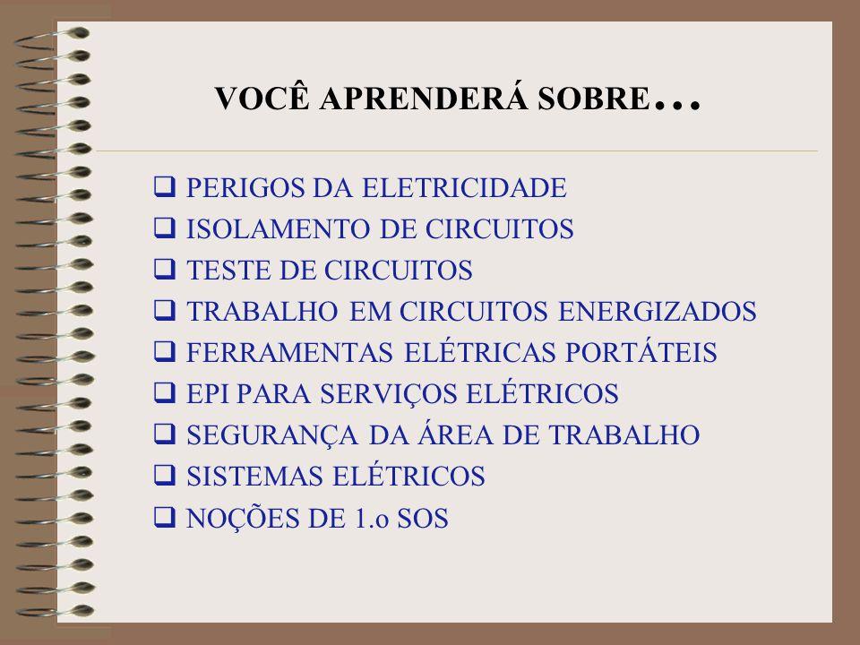 VOCÊ APRENDERÁ SOBRE… PERIGOS DA ELETRICIDADE ISOLAMENTO DE CIRCUITOS