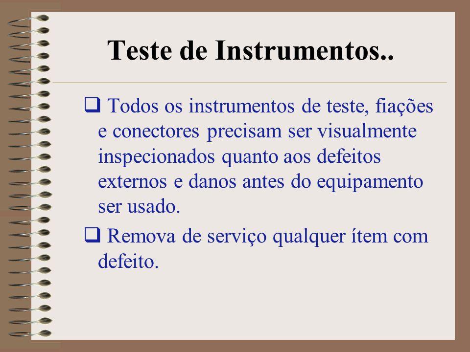 Teste de Instrumentos..