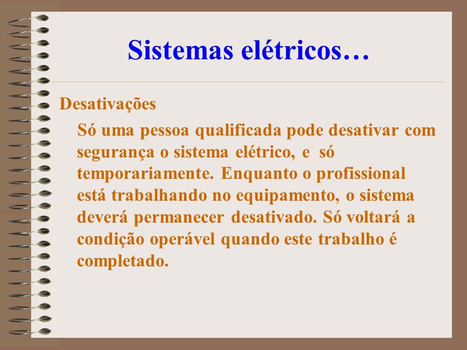 Sistemas elétricos… Desativações