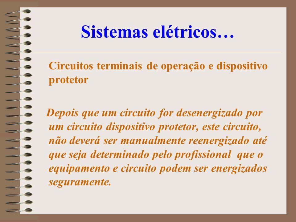 Sistemas elétricos… Circuitos terminais de operação e dispositivo protetor.