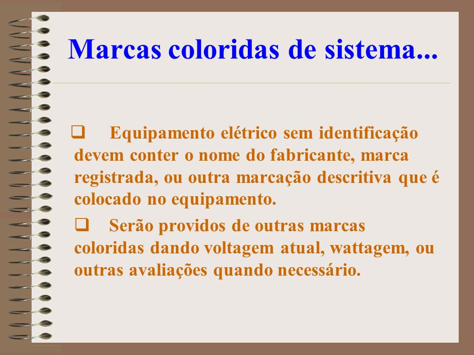 Marcas coloridas de sistema...