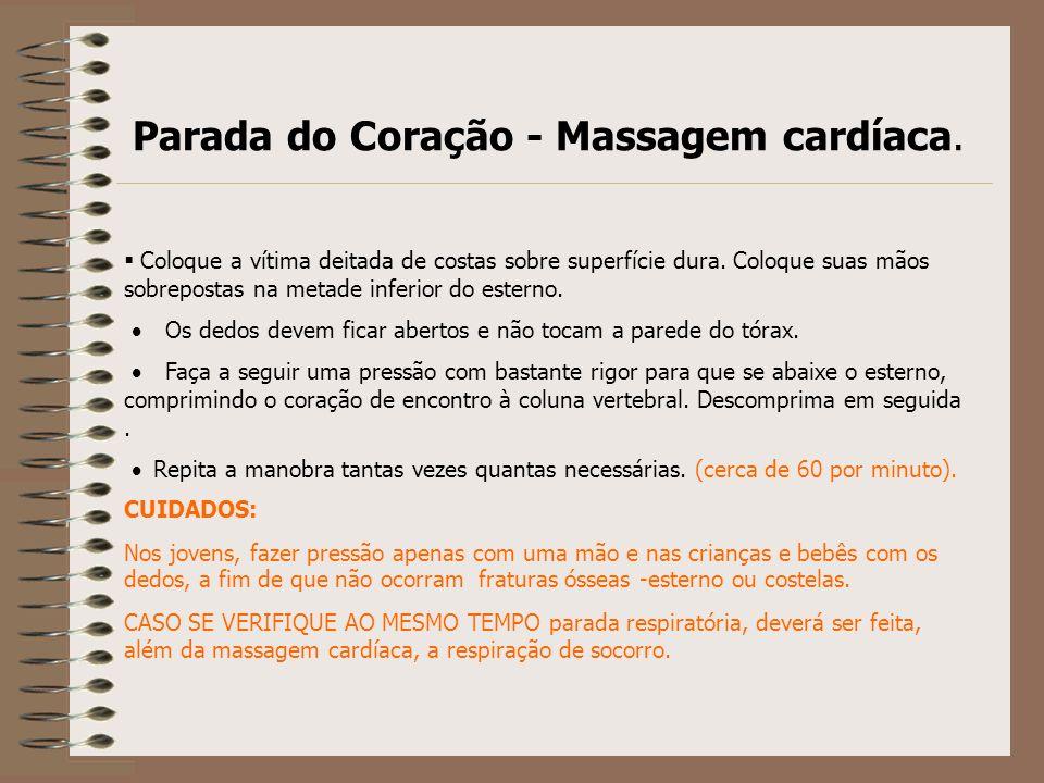 Parada do Coração - Massagem cardíaca.