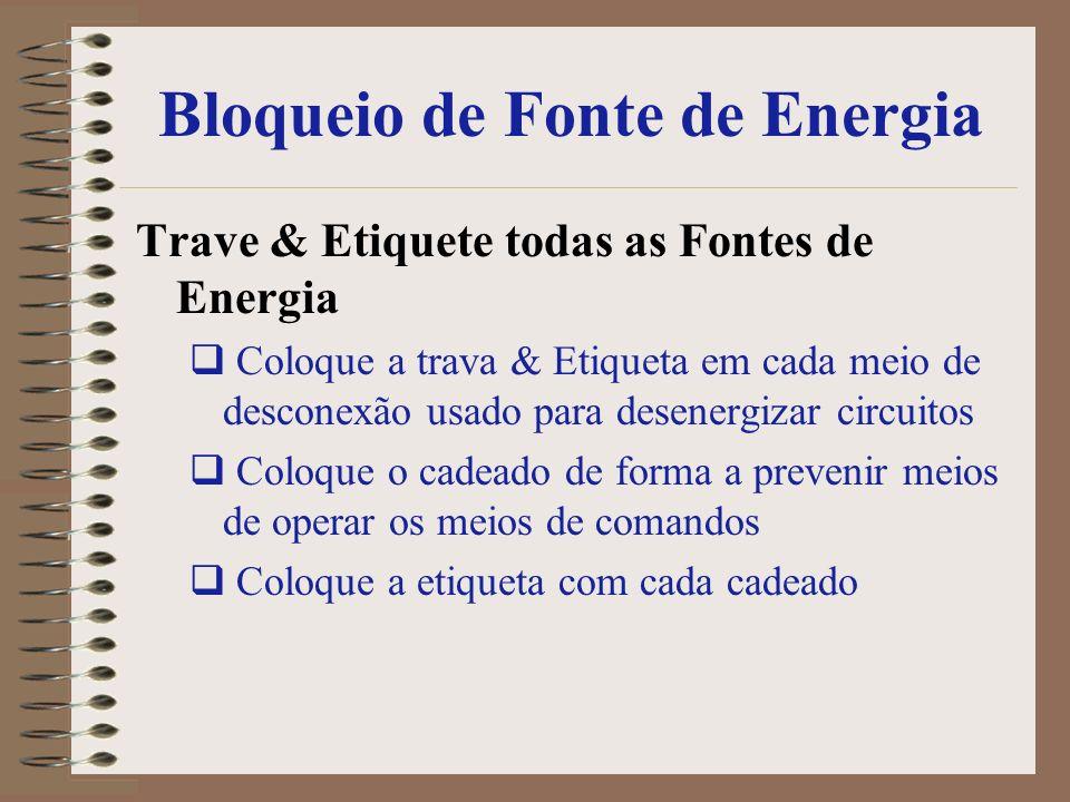 Bloqueio de Fonte de Energia