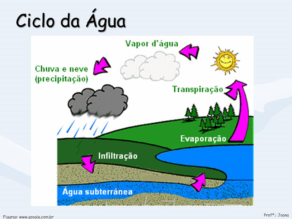 Ciclo da Água Figuras: www.google.com.br Profª.: Joana
