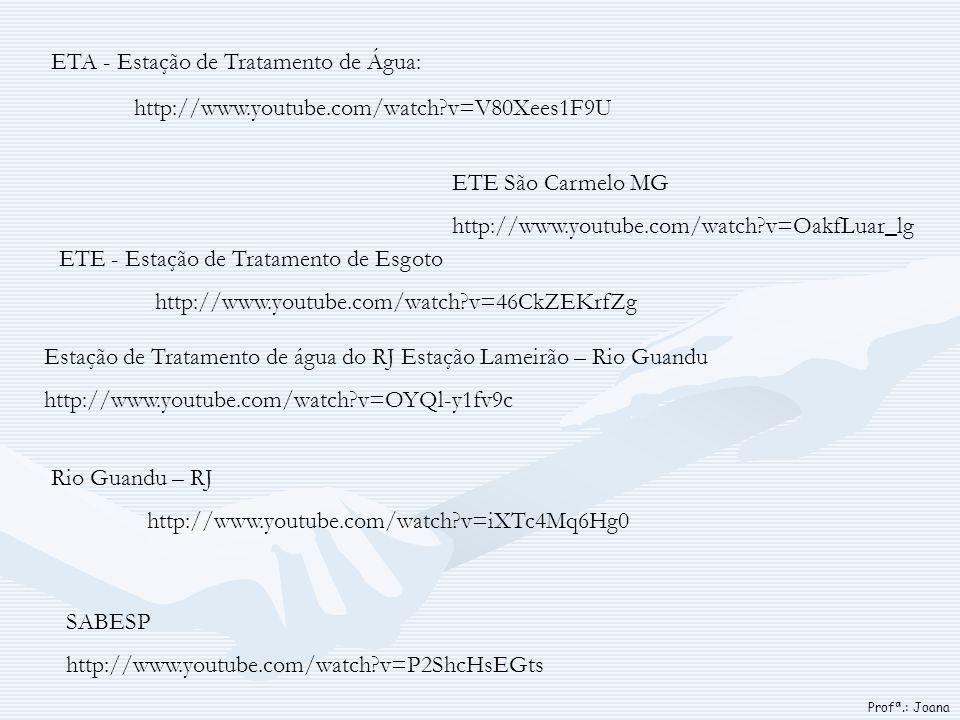 ETA - Estação de Tratamento de Água: