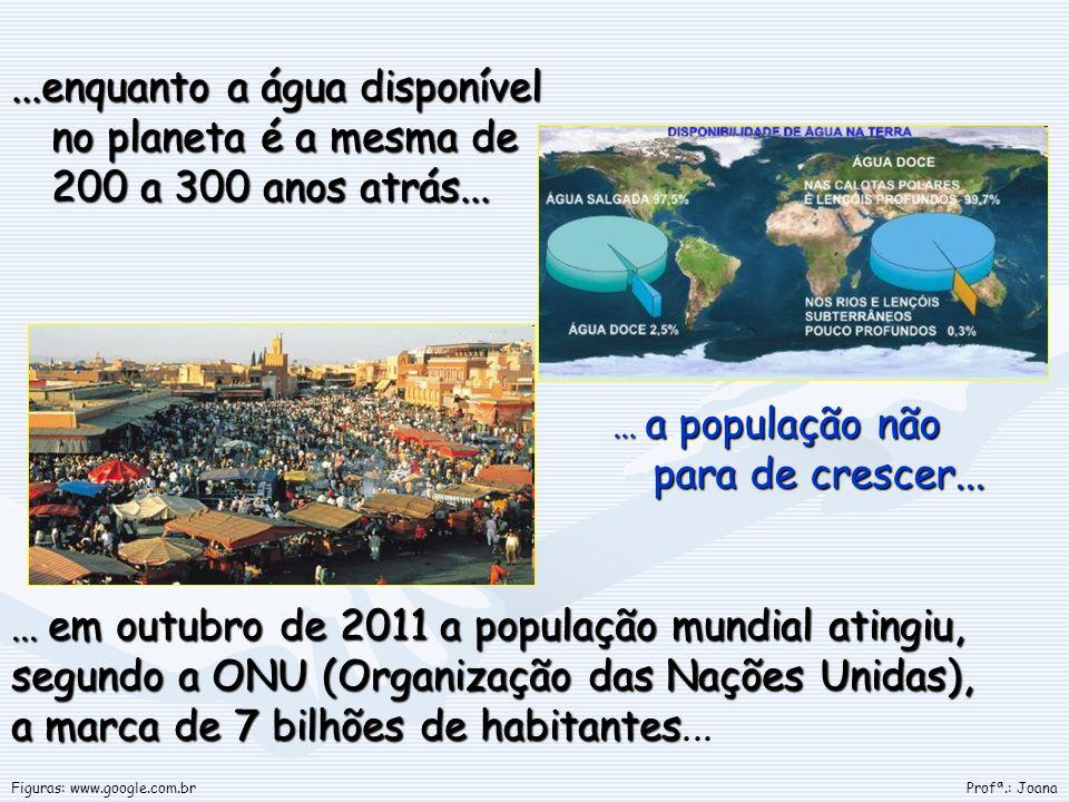 ...enquanto a água disponível no planeta é a mesma de 200 a 300 anos atrás...