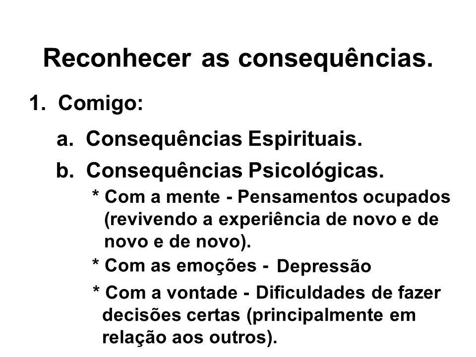 Reconhecer as consequências.