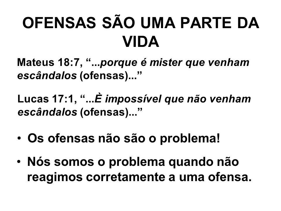 OFENSAS SÃO UMA PARTE DA VIDA