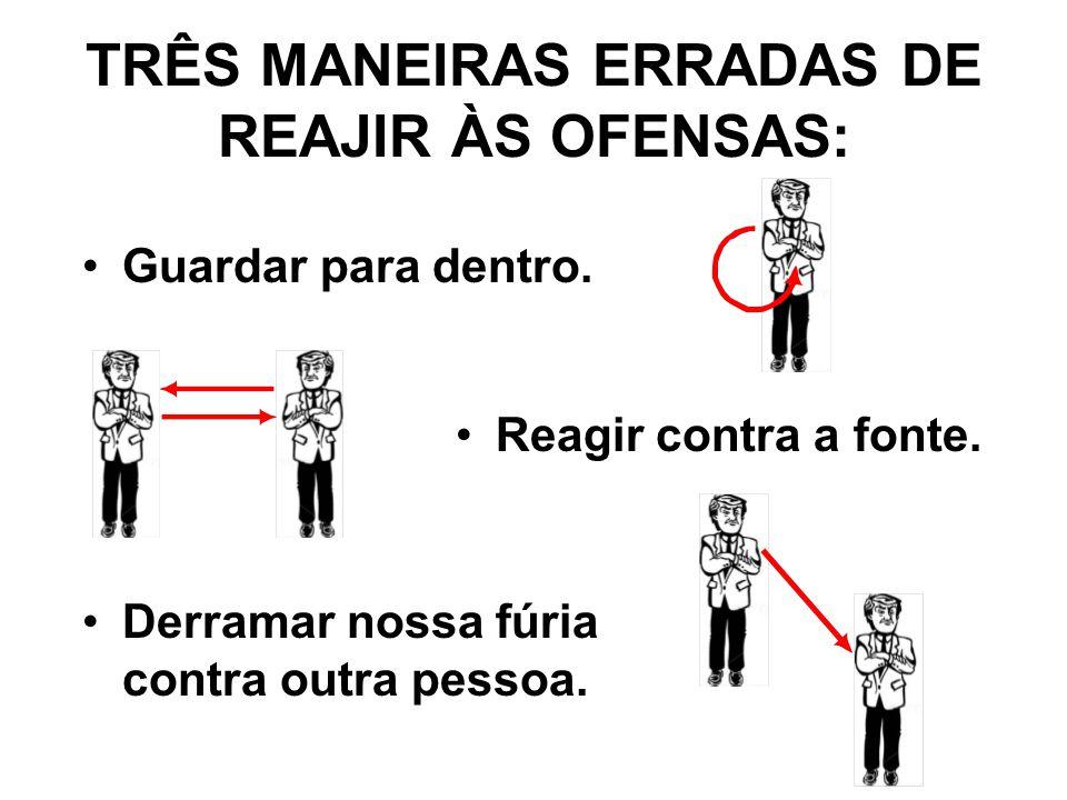 TRÊS MANEIRAS ERRADAS DE REAJIR ÀS OFENSAS: