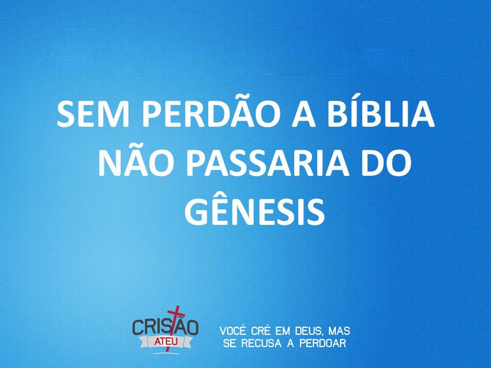 SEM PERDÃO A BÍBLIA NÃO PASSARIA DO GÊNESIS