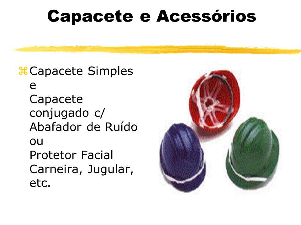 Capacete e Acessórios Capacete Simples e Capacete conjugado c/ Abafador de Ruído ou Protetor Facial Carneira, Jugular, etc.