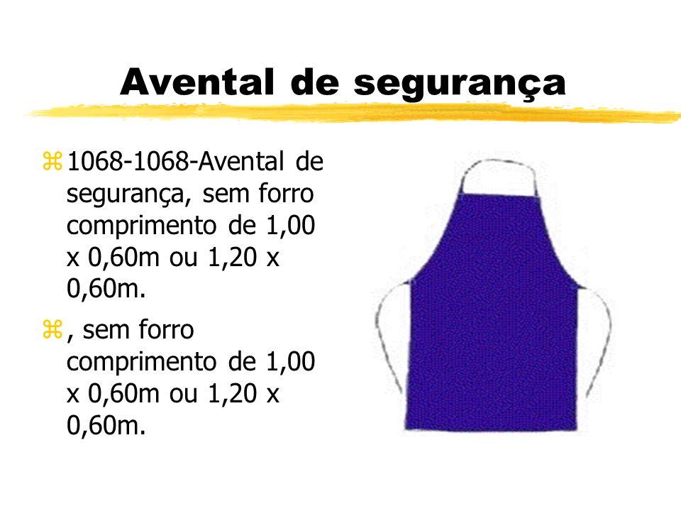 Avental de segurança 1068-1068-Avental de segurança, sem forro comprimento de 1,00 x 0,60m ou 1,20 x 0,60m.