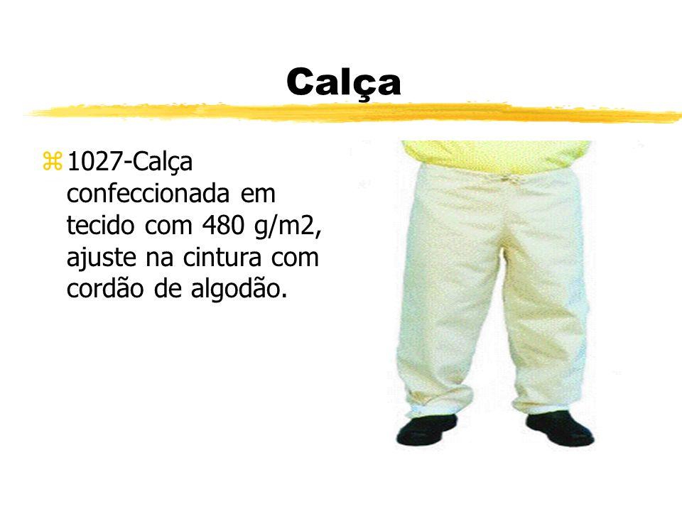 Calça 1027-Calça confeccionada em tecido com 480 g/m2, ajuste na cintura com cordão de algodão.