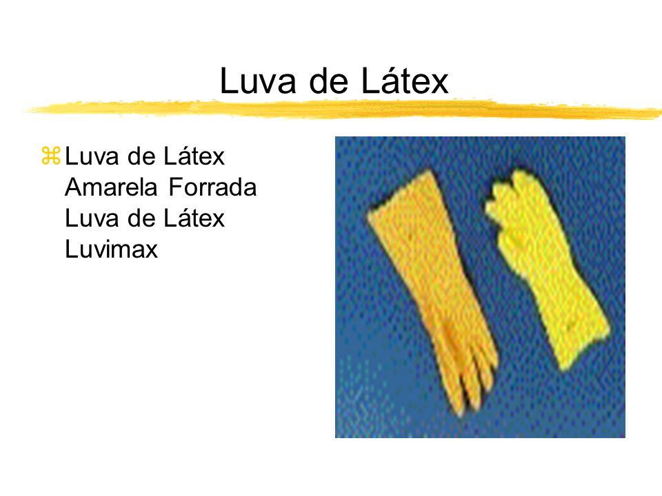 Luva de Látex Luva de Látex Amarela Forrada Luva de Látex Luvimax