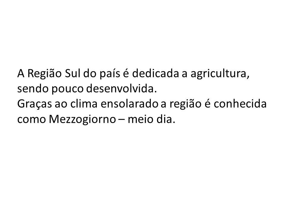 A Região Sul do país é dedicada a agricultura, sendo pouco desenvolvida.