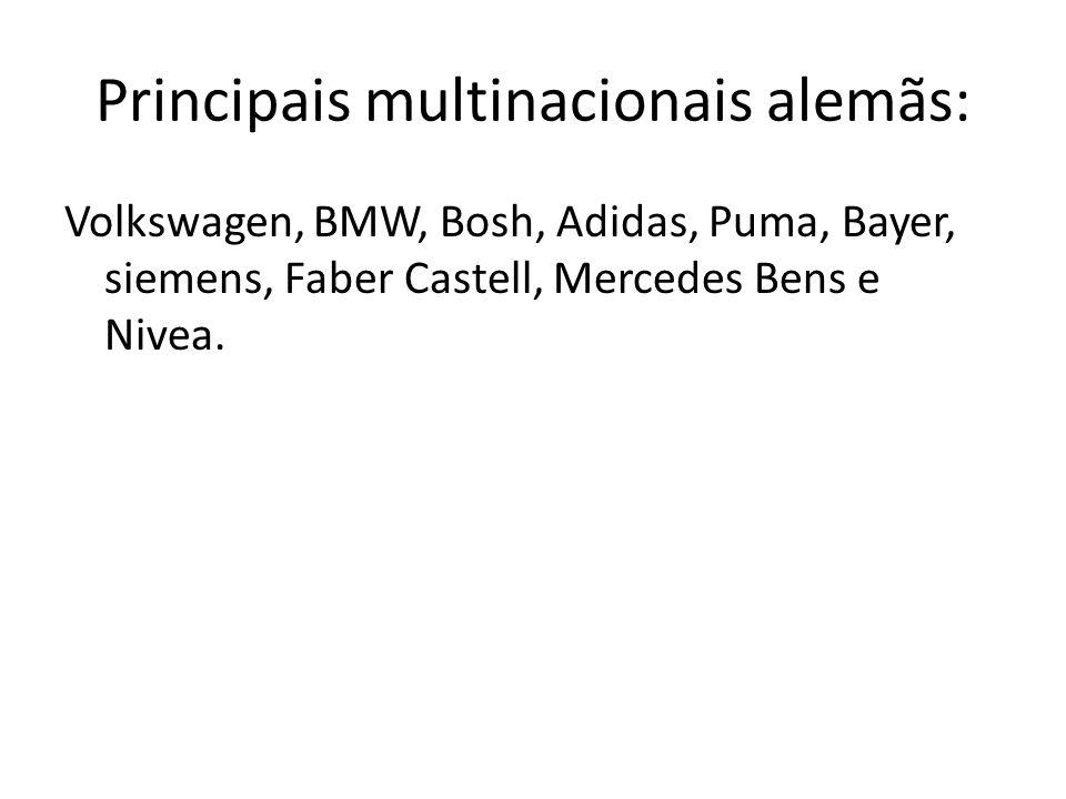 Principais multinacionais alemãs: