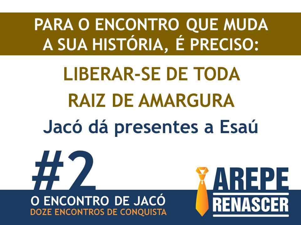 #2 LIBERAR-SE DE TODA RAIZ DE AMARGURA Jacó dá presentes a Esaú
