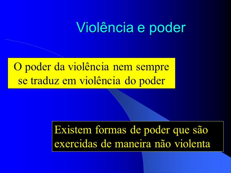 O poder da violência nem sempre se traduz em violência do poder