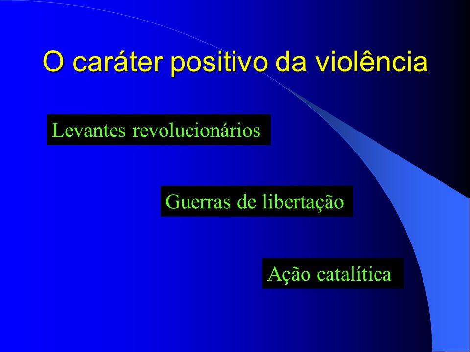 O caráter positivo da violência