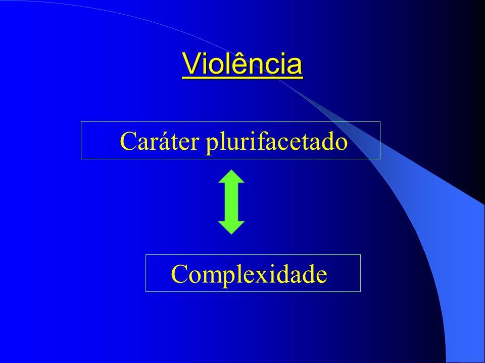Violência Caráter plurifacetado Complexidade