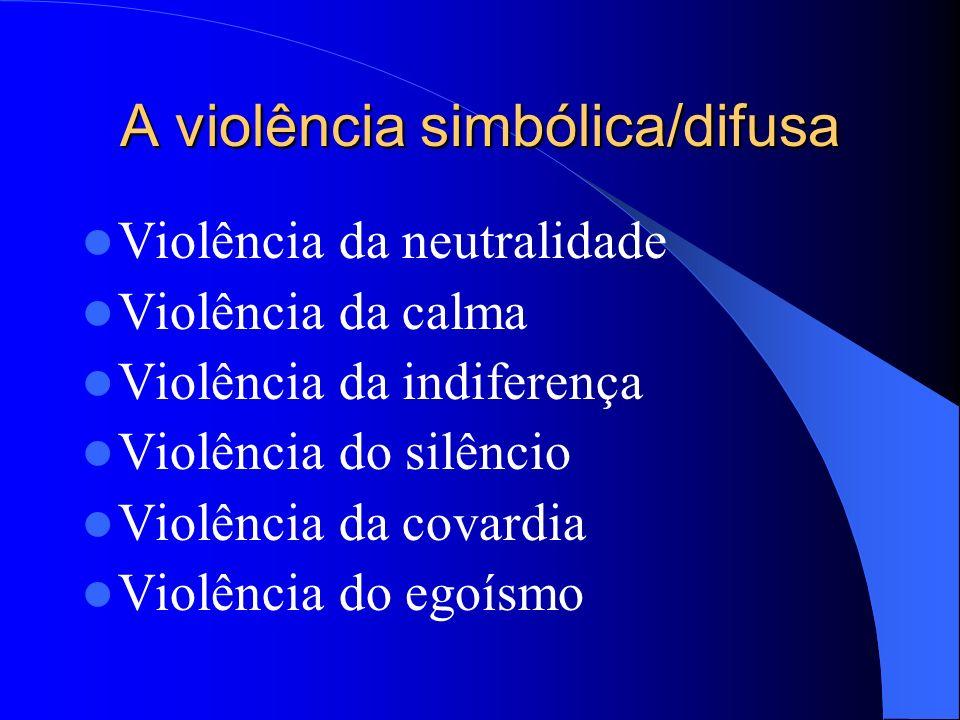 A violência simbólica/difusa