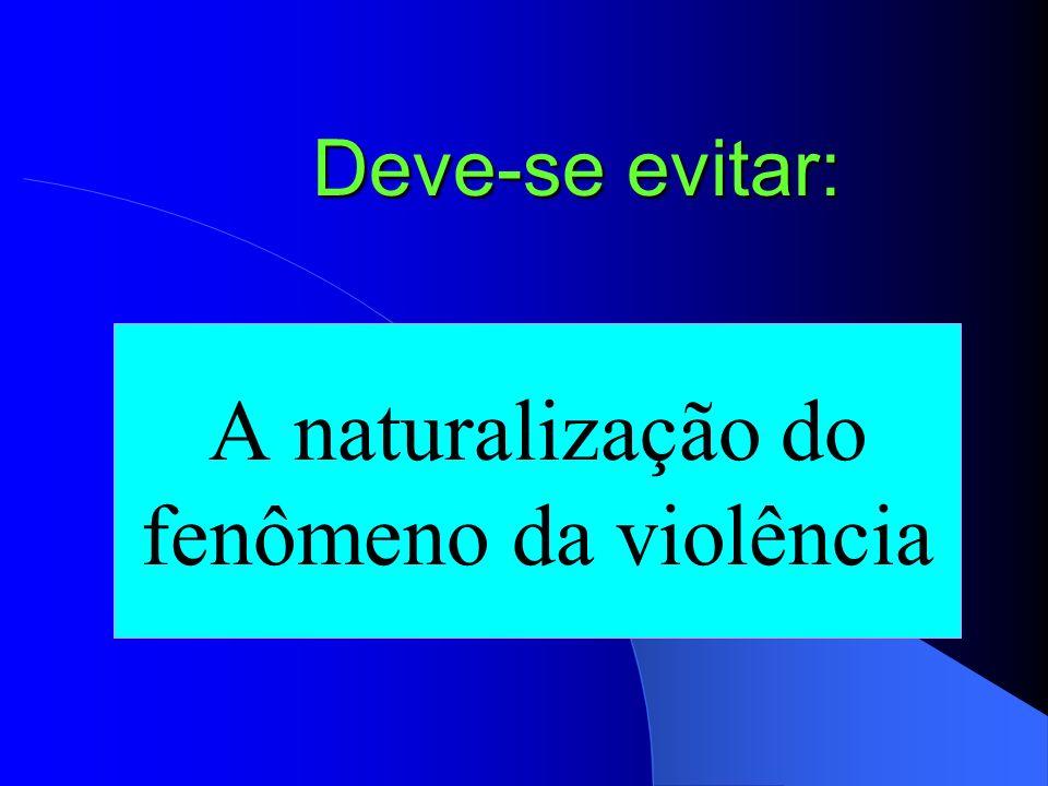 A naturalização do fenômeno da violência