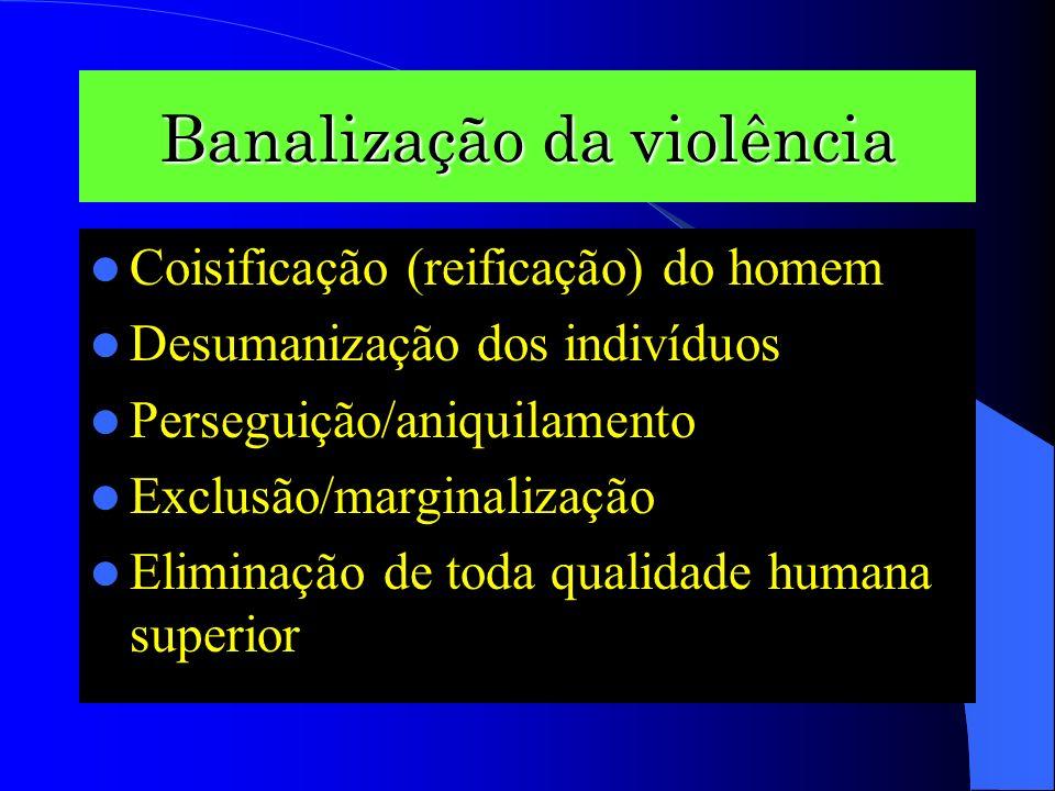 Banalização da violência