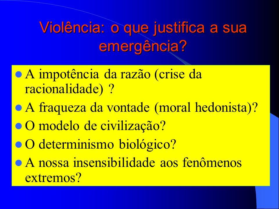 Violência: o que justifica a sua emergência