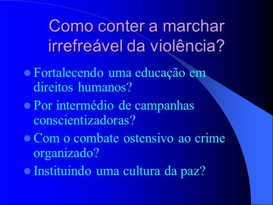 Como conter a marchar irrefreável da violência
