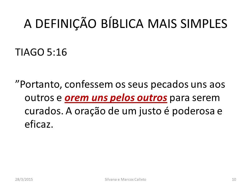 A DEFINIÇÃO BÍBLICA MAIS SIMPLES