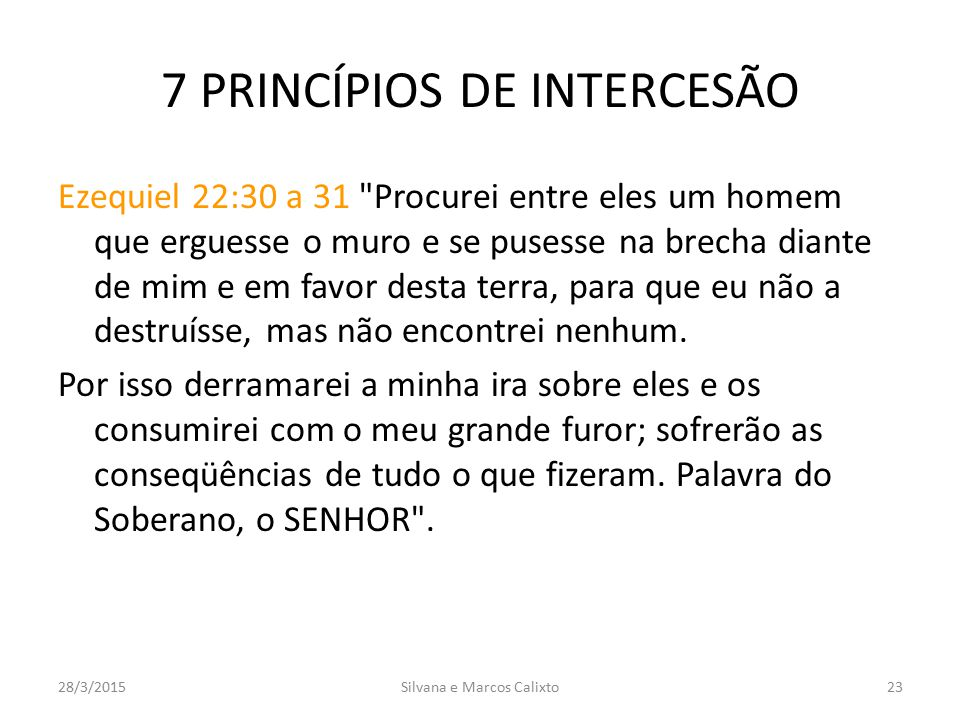 7 PRINCÍPIOS DE INTERCESÃO