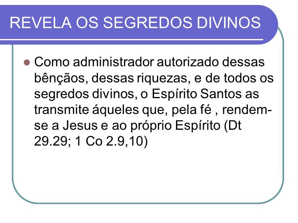 REVELA OS SEGREDOS DIVINOS