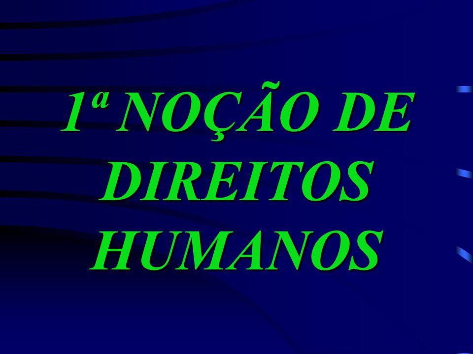 1ª NOÇÃO DE DIREITOS HUMANOS