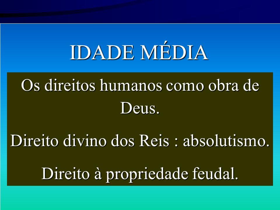 IDADE MÉDIA Os direitos humanos como obra de Deus.