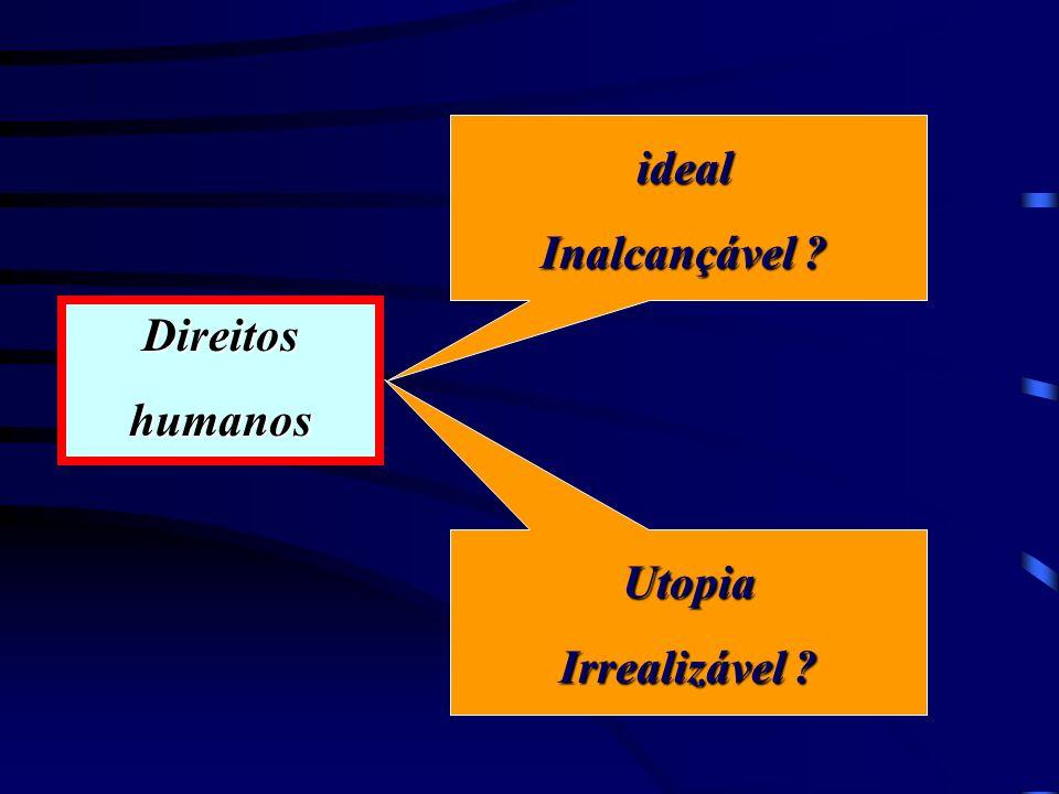 ideal Inalcançável Utopia Irrealizável Direitos humanos