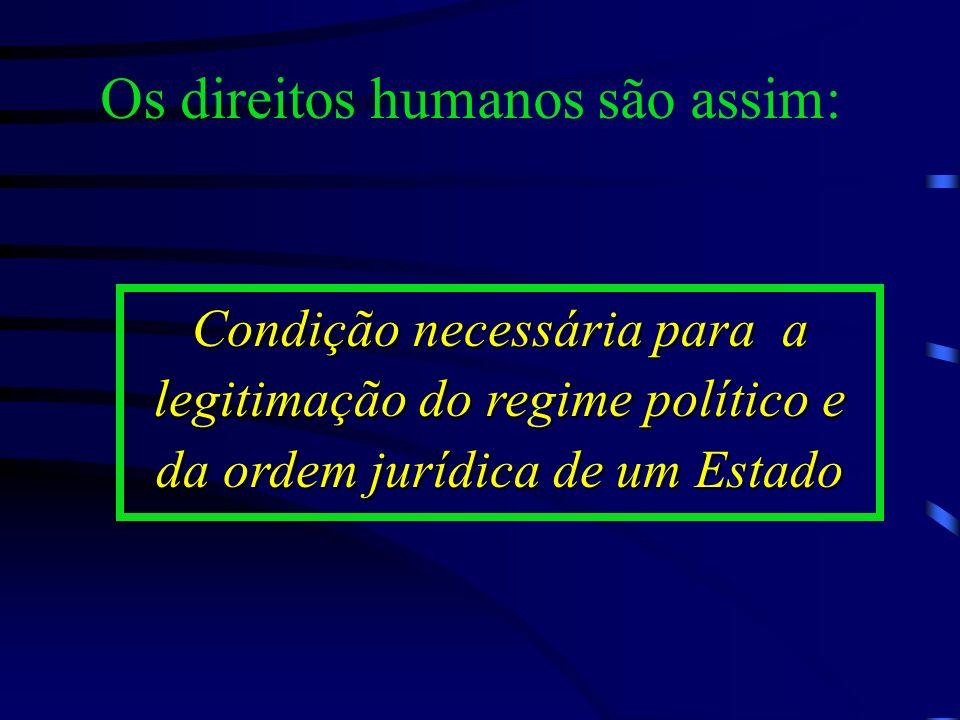 Os direitos humanos são assim: