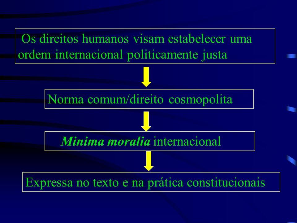 Os direitos humanos visam estabelecer uma ordem internacional politicamente justa