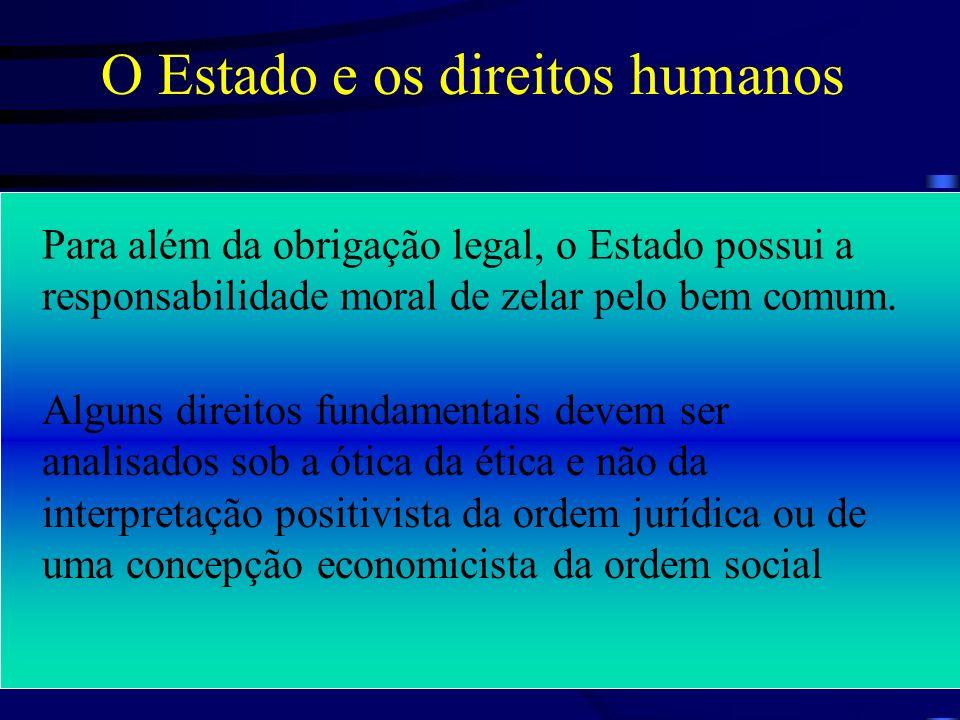 O Estado e os direitos humanos