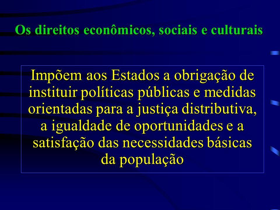 Os direitos econômicos, sociais e culturais