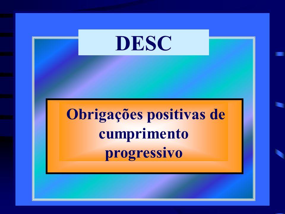 Obrigações positivas de cumprimento progressivo