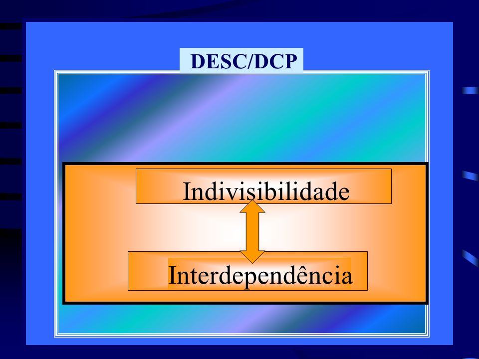 DESC/DCP Indivisibilidade Interdependência