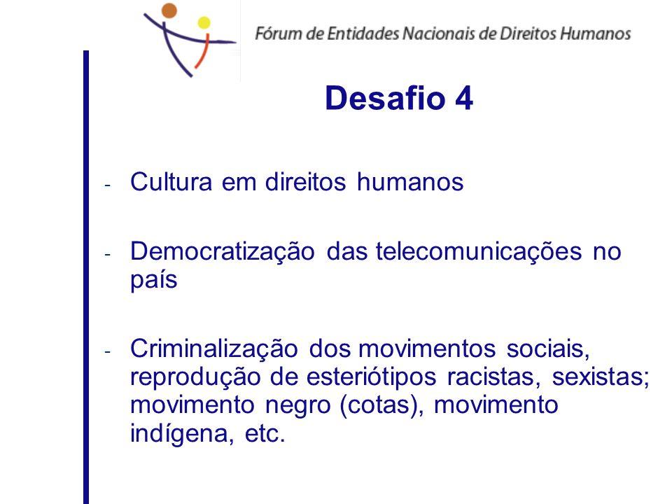 Desafio 4 Cultura em direitos humanos